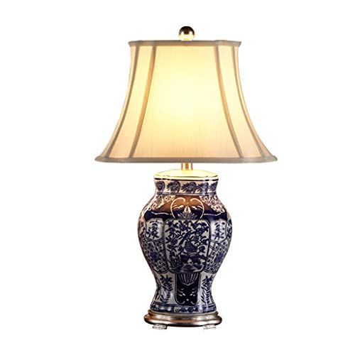 AODISHA-1 Blaue Keramik Tischlampe, Büro Bekleidungsgeschäft Ballsaal Haushalt Tischlampe Harz Lampe Kappe 41 * 71 cm Druckschalter -Gib hell nach Hause (größe : 41 * 71CM)