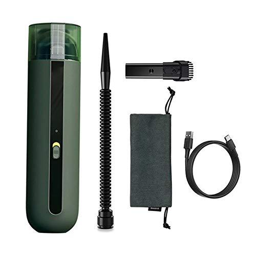 CHENCczxcq Aspirador de Mano Inalámbrico vacío Aspirador Handheld Car Cleaner 5 kPa de succión portátil Mini Limpiador de Vacum Vacío de Limpieza del hogar (Color : Green)