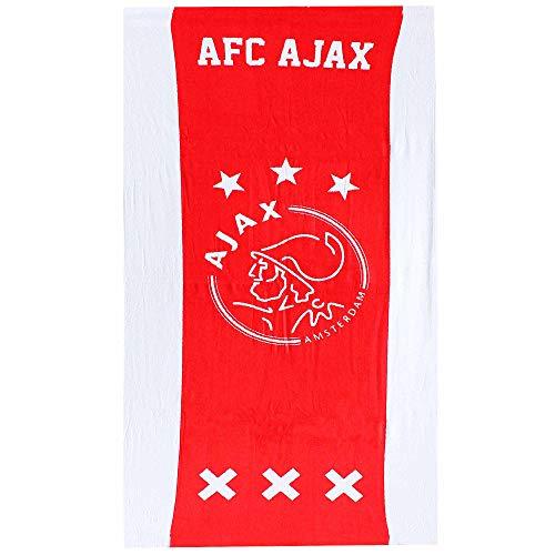 AFC Ajax - Toalla de baño y playa oficial de Amsterdam Eredivisie (100% algodón, 70 cm x 140 cm)