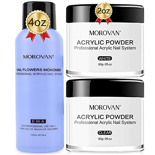 Morovan Acrylic Powder and Liquid Set-Professional High Capacity Acrylic...