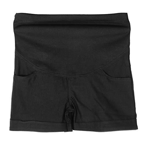 Biitfuu Dames-shorts, voor zwangerschap, zomerbroek, broek, mama, ondersteuning, short met volledig paneel, elastische hoge taille