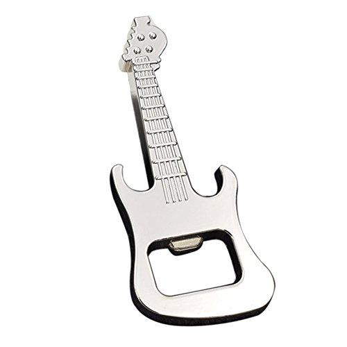DKEyinx Tragbare Legierung Gitarre geformt Bier Flaschenöffner, 8,5 cm x 3,5 cm, für Küche KTV Bar Geschenk Silber
