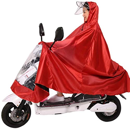 ZXL Regenjas Motorfiets Elektrische fiets Regenjas, Ms Single Oxford Motorfiets Anti-mist Regenkleding cover Met Spiegel Slots Motorfiets Waterdichte Verlengde Poncho Regenkleding (Kleur : A2)
