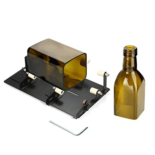 Glass Bottle Cutter Glass Bottle Cutter For Round Square Oval Bottles And Bottle Neck DIY Bottle Cutting Tool for Candle Holders Goblets (Color : Black, Size : Type 1)