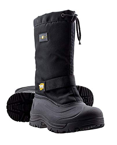 ArcticShield Mens Cold Weather Waterproof Durable Insulated Winter Snow Boots (9 (M) US Mens) Black