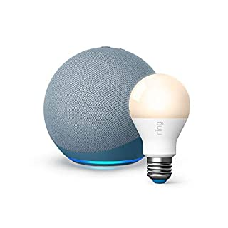 All-new Echo (4th Gen) - Twilight Blue - bundle with Ring A19 Smart LED Bulb, White (B08M1M7M4H) | Amazon price tracker / tracking, Amazon price history charts, Amazon price watches, Amazon price drop alerts
