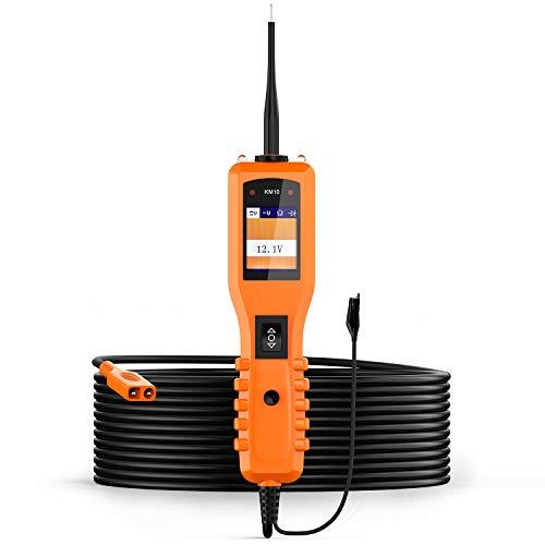 KZYEE KM10 Power Circuit Probe Kit, Automotive Circuit Tester mit Funktionen für die Prüfung der elektrischen Anlage (Digital Voltmeter / Kurzschlussfinder / Stromversorgung oder Masseversorgung)