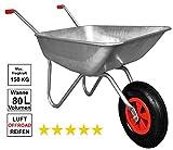 Schubkarre 80 Liter 150 kg Metall Luftreifen