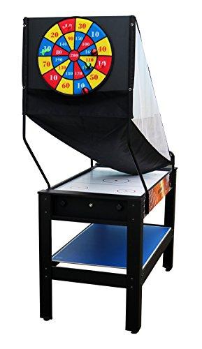 Solex 7-in-1 Multifunktions-Spieltisch | Backgammon | Basketball | Billard | Schach | Slide Hockey | Tischtennis | Klett-Darts