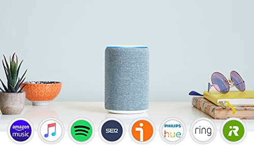 Amazon Echo (3.ª generación) - Altavoz inteligente con Alexa - tela de color añil
