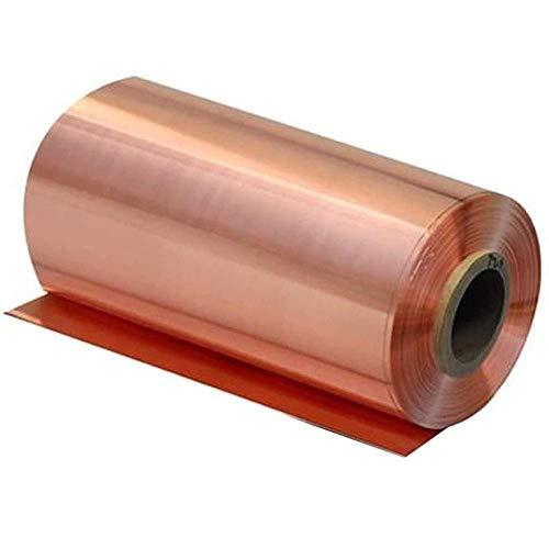 GYZD Kupferbleche Kupferplatte Kupferfolie im Zuschnitt reines Kupfer 99.9% Cu Blech Folie,0.25 x100x1000mm,0.25mm x 100mm x 1000mm