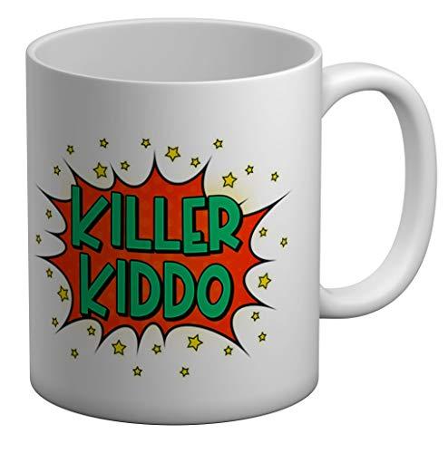 Shopagift Killer Kiddo - Taza grande (325 ml), color blanco