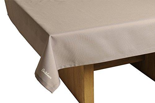 haga-wohnideen.de Outdoor TISCHDECKE St. Tropez Taupe Gartentischdecke Gartentisch Tisch Decke abwaschbar 140cmx240cm