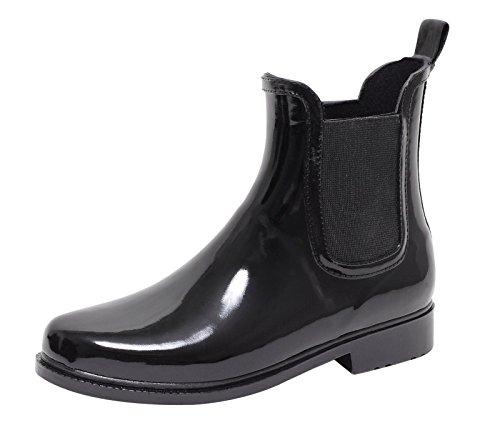 ZAPATO EUROPE Chelsea Regenstiefel Jelly Boot SCHWARZ Gr. 39