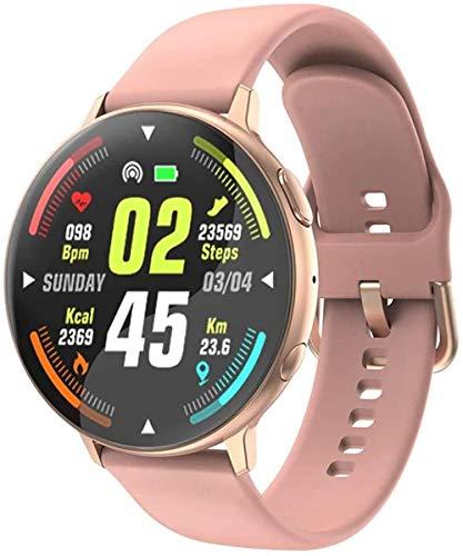 Smart Watch 1.3 con pantalla redonda completa IP67, esfera Bluetooth resistente al agua con control de la frecuencia cardíaca, reloj deportivo inteligente para Apple IOS Android-E.