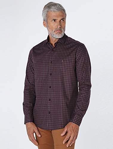 Camisa Menswear Xadrez, Aramis, Masculino, Vinho, GG