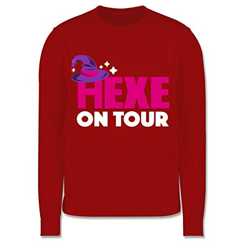 Shirtracer Halloween Kind - Hexe on Tour - weiß/Fuchsia - 152 (12/13 Jahre) - Rot - JH030K_Kinder_Pullover - JH030K - Kinder Pullover