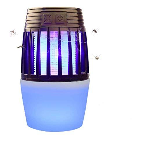 HUSHUI Lámpara asesina de Mosquitos, lámpara eléctrica para Eliminar Insectos, luz LED UV, Trampa para Moscas, Mosquitos, Insectos, lámpara para Acampar, Senderismo, Exterior, Interior