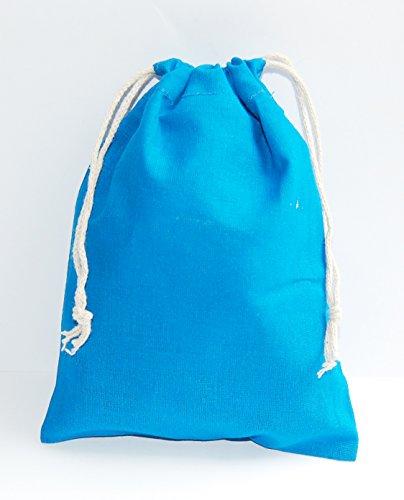 Esoterik-Versand Baumwollbeutel Hellblau, Größe 15 x 20 cm, 25 Stück