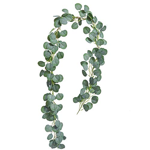 KIRIFLY Eucalyptus Garland,Ivy Garland Eucalyptus Leaves Greenery Garland Leaf Evergreen Eculaptus Vine Garland Decorations