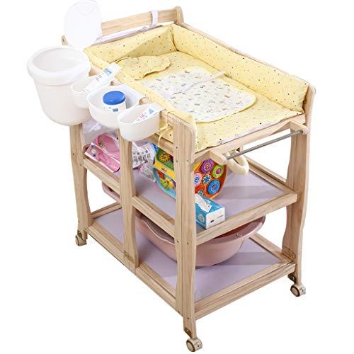 Changing Tables Xinjin Fasciatoio per Neonato con fasciatoio per Bambini Portatile Lettino da Massaggio Baby Shower e fasciatoio Fascia di Sicurezza Pieghevole Regolabile Nursery