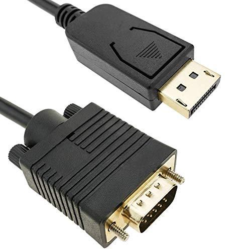 BeMatik - Cable DisplayPort macho a VGA macho de 2 m