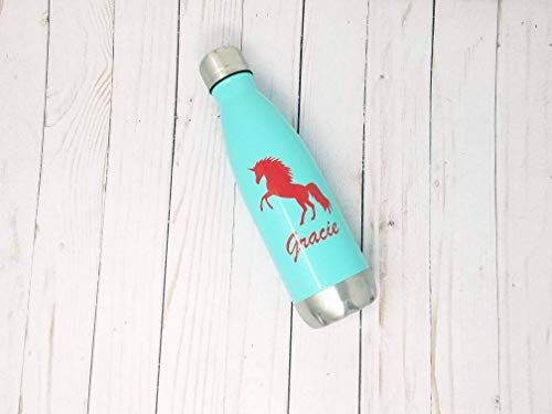 Unicorn Personalized Stainless Steel Water Bottle 17 Ounces