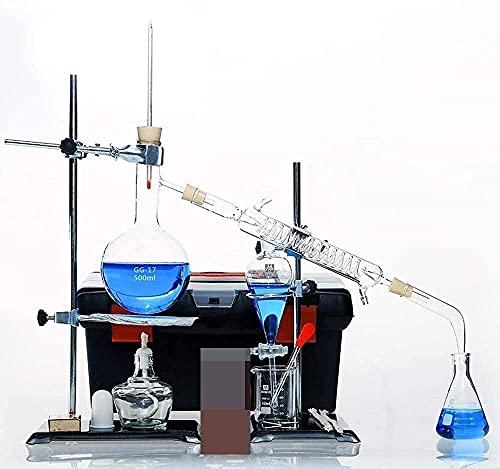 HTDHS Levende apparatuur Laboratorium Volledige Set van Chemische Experimentele Apparatuur Doos Industriële Distillatie Zuivering Extractie Glas Instrument Kit College Home Lesgevenbenodigdheden