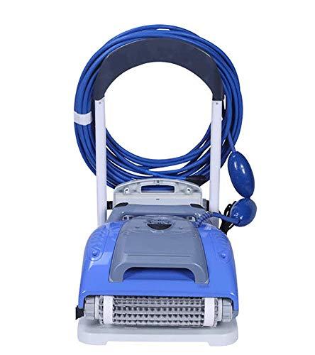 AHELT-J Robot Limpiafondos para Piscinas, Aspiradora M200 Equipo de Limpieza Automática Robot de Piscina M3 Cable de 18 Metros Equipo de Limpieza Profesional,A