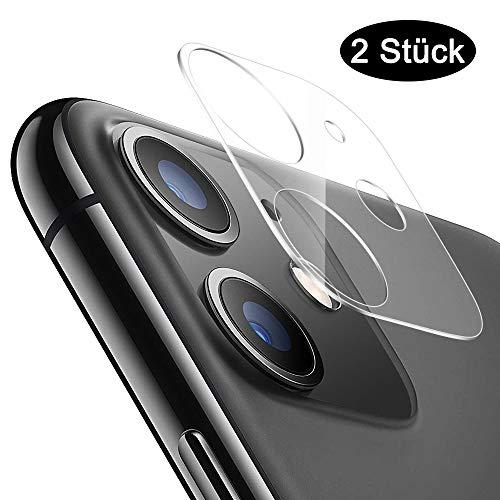 Echden Handy Kamera Protector Kompatibel mit iPhone 11 Kamera Panzerglas[2 Pack] Kameraschutz Linse Schutzfolie 3D 3D Vollständige Abdeckung 9H Kamera objektiv Glas HD Kameraschutzfolie Transparent