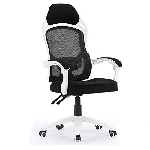 Ergonomischer Bürostuhl Mesh-Schreibtischstuhl mit hoher Rückenlehne, verstellbare Kopfstütze und Lordosenstütze, Computertisch-Arbeitsstuhl E-Sportstuhl Bequem und zuverlässig