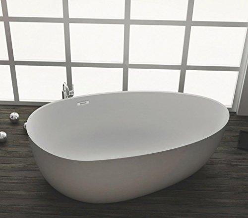 Freistehende Badewanne aus Mineralguss KZOAO-1485, Oberfläche:Matt