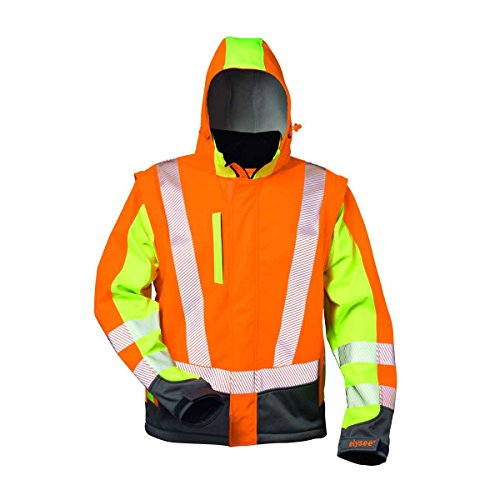 Warnschutz Softshelljacke Elysee *ATANAS* orange/gelb-grau Gr. XL
