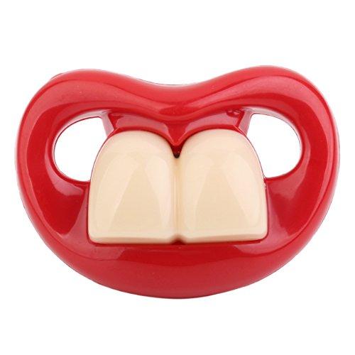 Divertente Bucktooth Commestibile Bambino Del Silicone Infantile Capezzolo Ciuccio Ortodontico