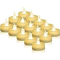 Luces De Té Led Sin Llama 24 Piezas A Granel, Velas De Té Eléctricas, Pequeñas Velas Falsas, Alimentadas Por Batería, Mini Velas Blancas Cálidas, Adecuadas Para Vacaciones, Bodas, Fiestas