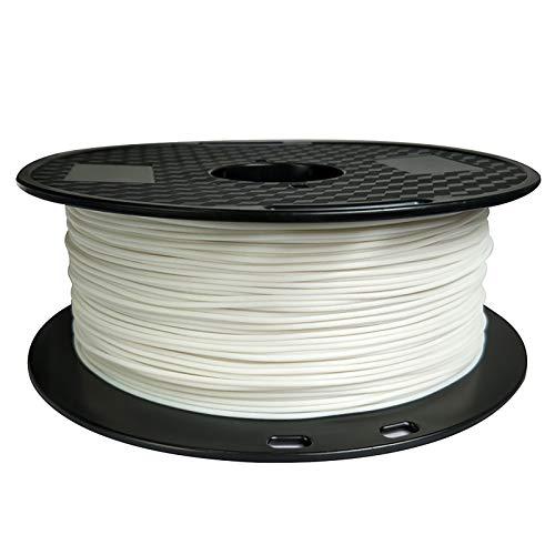 Filo di stampa 3D, filo conduttivo PBT 1,75 mm, bobina da 1 kg, per stampante 3D, bianco