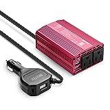 BESTEK 300W Power Inverter for Car, Inverter DC 12V to 110V AC Converter Car Outlet Adapter with USB-C PD Cigarette Lighter Plug,...