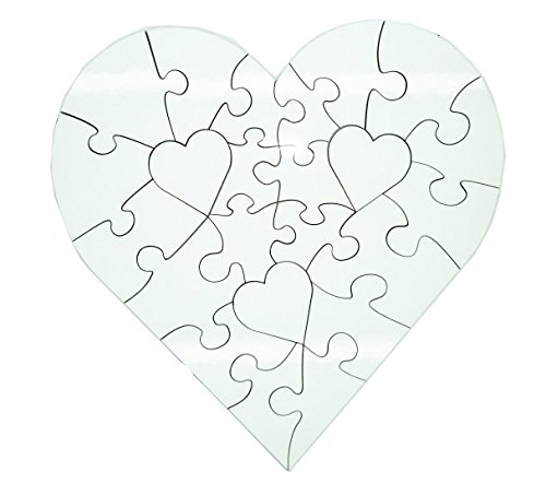Sublimatie MDF Hardhout Blank Hartvorm Decoupeerzaag puzzel 17,5 cm x 17,5 cm