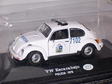 Del Prado Volkwagen KÄfer Polizei Police Mexiko 1/43 Modellauto Modell Auto