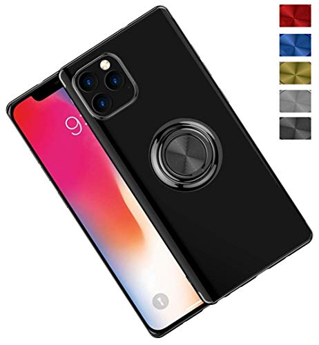 ONEYMM beschermhoes voor iPhone 11/11 Pro / 11 Pro Max fineer ultradunne beschermhoes met 360°-houder, magnetisch, schokbestendig, autohouder, transparant, krasbestendig, antislip