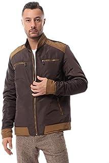 Andora Contrast-Trim Chest-Pocket High-Neck Zip-Up Jacket for Men