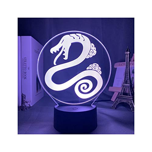 TIDRT Luz De Noche De Acrílico Led 3D Comics Decoración del Hogar Siete Pecados Gadget Decoración Luz Niño Niña Niños Lámpara De Mesa Regalo De Fiesta