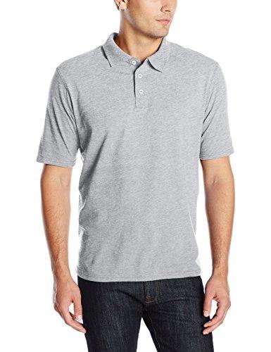 Hanes mens X-Temp Performance Polo Shirt,Light Steel,XXX-Large