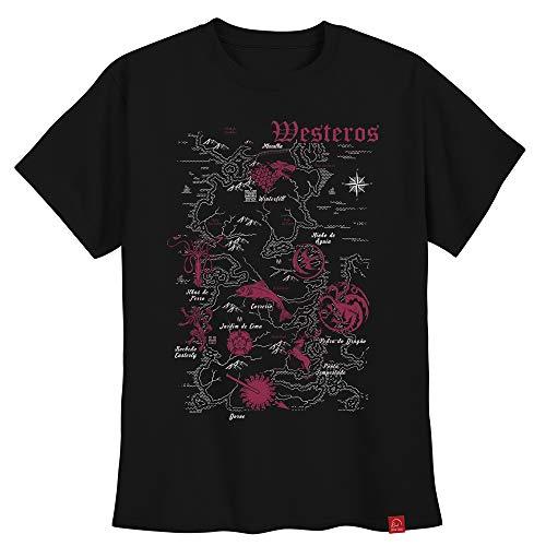 Camiseta Game Of Thrones Mapa Westeros Camisas Got GG