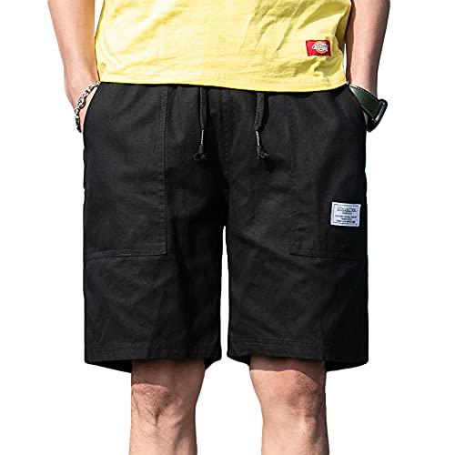 Jubaton Hombre Ligero Entrenamiento para Correr o Gimnasio Al Aire Libre Suelto Cómodo Moda Casual Ropa Diaria Trabajo de Oficina Pantalones Cortos Regulares M