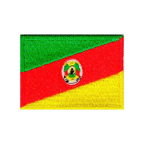 Patch Bordado - Bandeira Rio Grande Sul Pequena BD50177-44P Fecho de Contato