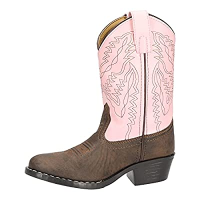 Smoky Mountain Childrens Girls Monterey Boots Brown/Pink, 12M,Brown/Pink,12 M US Little Kid by Smoky Mountain Boots