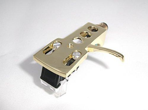 Vergulde platenkop montagekop met MM cartridge voor Sansui SR 222 Mk1, P 50, 222 Mk2, FR D3, 5080S, 212, 1080, 3060, 4060, 1050, 2020, 2050, 232, 3030, 313, 4040, 4050, B200 platenspeler