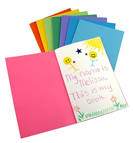 Hygloss Products, Inc Paperback Blank Sketch, Writing, Journaling, Book for Children and Adults Pack of 50 in Assorted Colors, 4.25 x 5.5-Inch