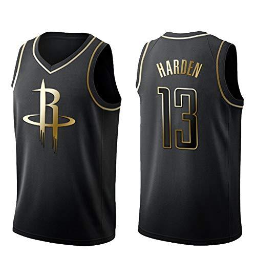 LJLis NBA Houston Rockets James Harden #13 Maglietta Senza Maniche Maglia da Basket in Maglia Maglietta Estiva Maglietta Sportiva Traspirante ad Asciugatura Rapida,Black1,M